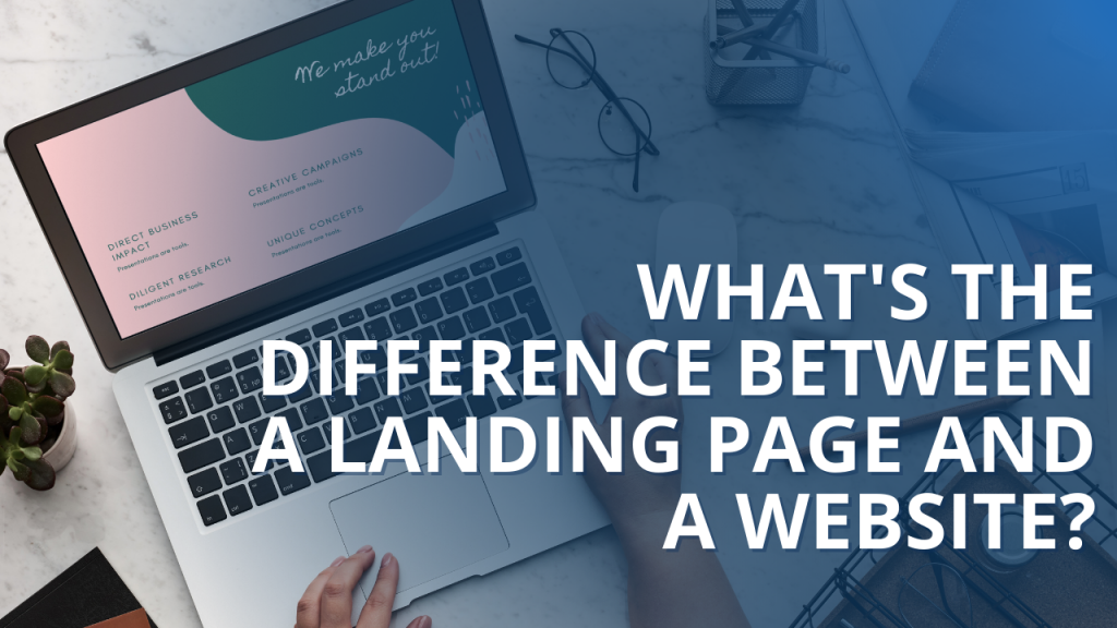 landing page website difference