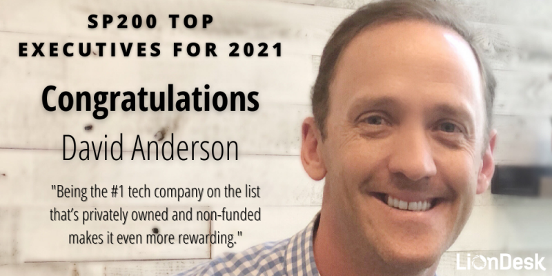 Article - LionDesk Founder and CEO, David Anderson, named to 2021 Swanepoel Power 200 report for Third Consecutive Year
