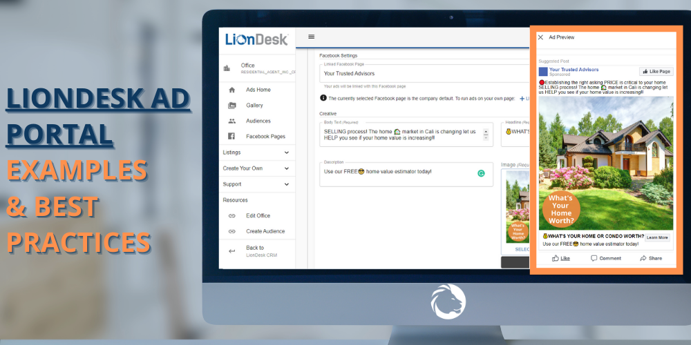 LionDesk Facebook Ad Portal Examples & Best Practices