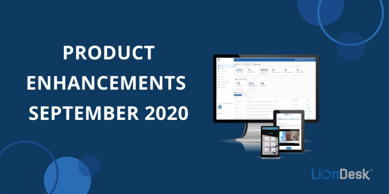 Article - LionDesk Product Enhancements: September 2020