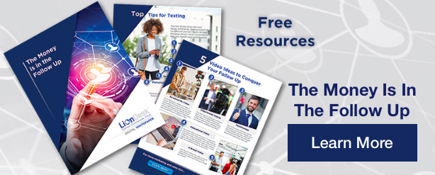 A visual of free resources to help sales professionals with their follow up.